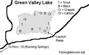 green valley california map green valley lake fishing in california