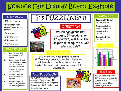 science fair template postermywall
