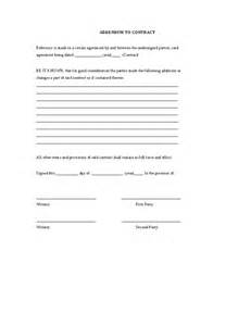 addendum template pin addendum for payment contract template on