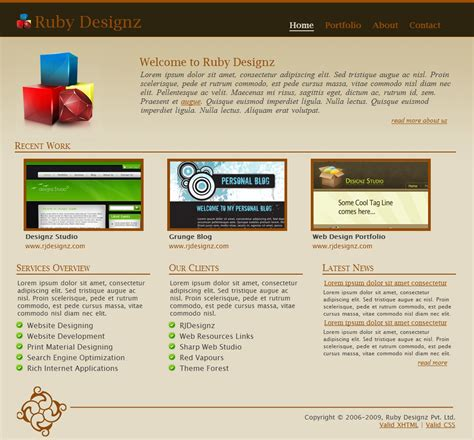 ruby template ruby designz business template by rjoshicool themeforest