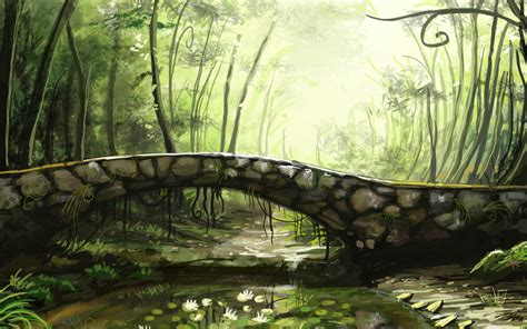 landscape bridge art bridge wallpaper 1039211