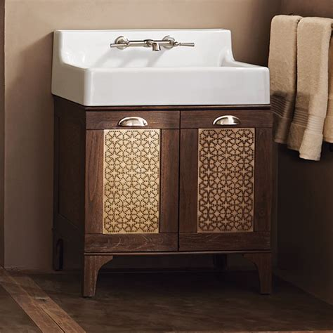 Oak Hill Bathroom Sink Vanity   Weathered Oak   DXV