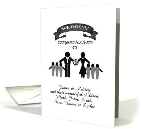 customizable wedding congratulations blended family