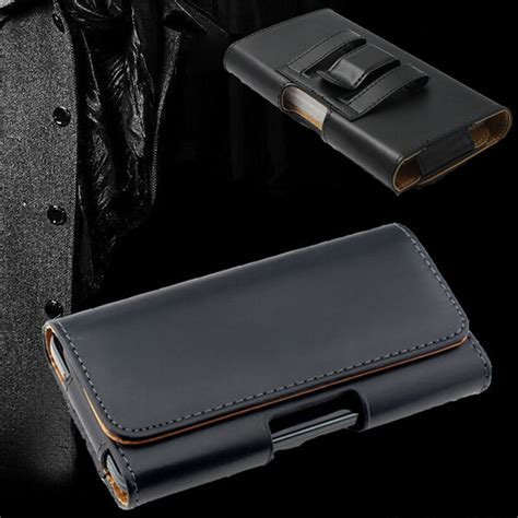 leather belt clip holster cover for iphone xs max 7 8 plus samsung galaxy ebay