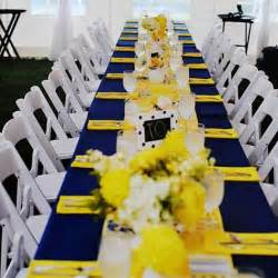 yellow decorations 96 best images about navy blue yellow wedding on