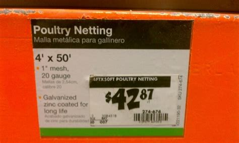 1 quot mesh chicken wire at home depot