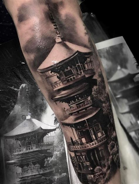japanese temple tattoo japanese temple inkstylemag