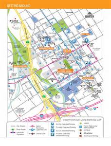 Downtown San Jose Map by San Jose City Map San Jose Downtown Pictures To Pin On