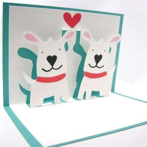 pop up cards puppy pop up card by cookiebits on etsy 8 85