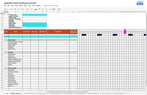 project management spreadsheet templates project