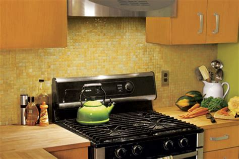 how to install a glass mosaic tile backsplash this house