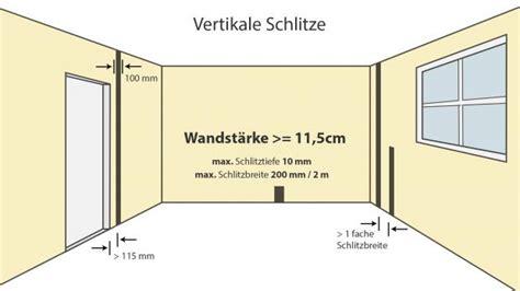 Wieviel Feuchtigkeit Darf In Einer Wand Sein by Elektroinstallation Wand Schlitzen Wie Tief Darfs Denn