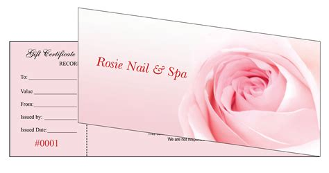 nail salon gift certificate template gift certificates printing for nail salon