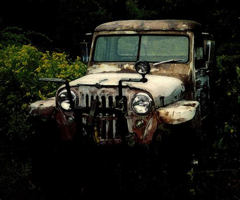 vintage toyota jeep vintage toyota jeep photograph by malcolm lorente