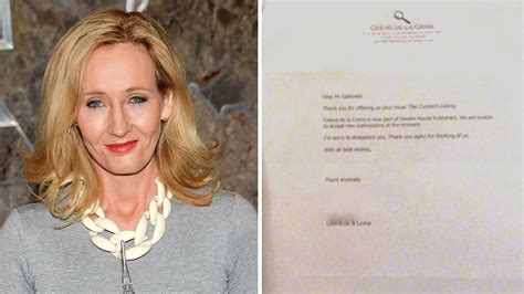 Rejection Letter Jk Rowling J K Rowling Shares Rejection Letters As Inspiration For Aspiring Writers Today