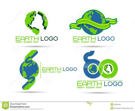 free logo design and save save the earth logo royalty free stock photo