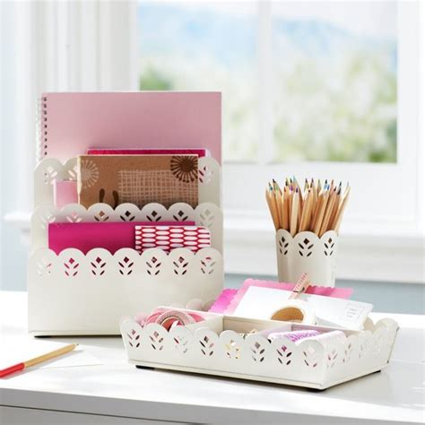 Decorative Desk Accessories Pretty Petals Desk Accessories Contemporary Desk Accessories By Pbteen