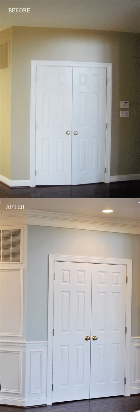 Wainscoting Molding Trim by Remodelaholic Beginner Tips And Tricks For Installing Trim