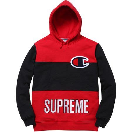 Jaket Hoodie Supreme X Chion Color Blocked chion supreme hoodie tulips clothing