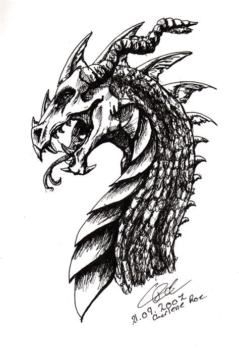 dragon head design by silverlight dream on deviantart