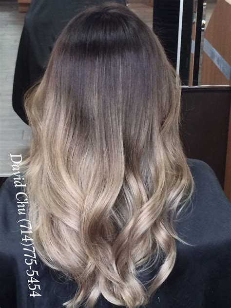 ash blonde brown balayage hair high contrast ash brown with pearly highlights balayage