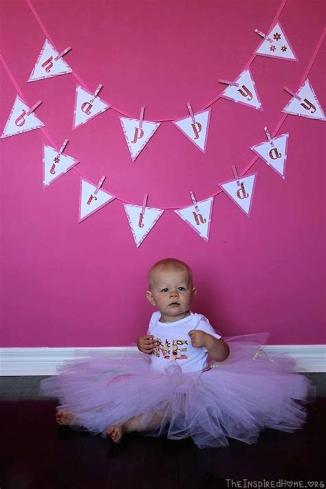 Banner Hbd Bunting Flag Happy Birthday Karakter Minni Murah birthday ideas happy birthday bunting banner tutorial the inspired home
