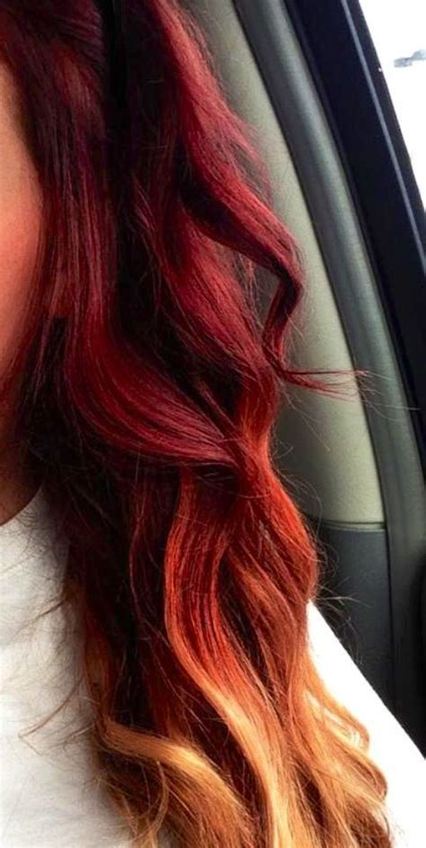 ombre with red and blonde ombre hair color red to blonde google search beauty
