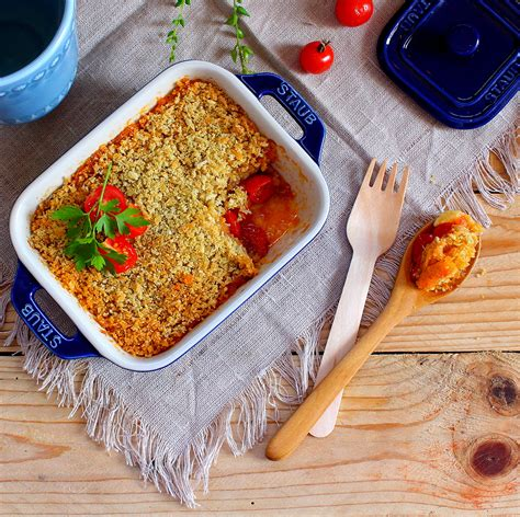 tomates cuisin馥s n 225 rwen s cuisine crumble de tomate com ch 232 vre
