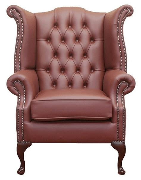 traditional leather wingback chair chesterfield high back wing chair burgandy