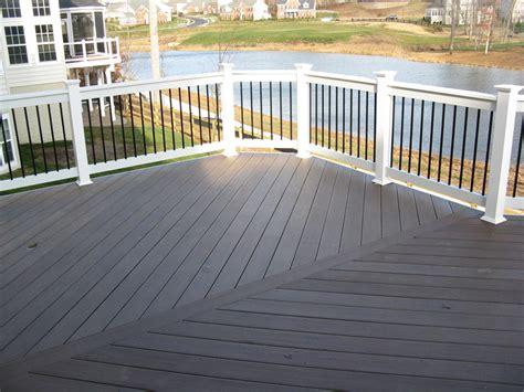 pvc decke pvc decking maryland deck builders the deck fence