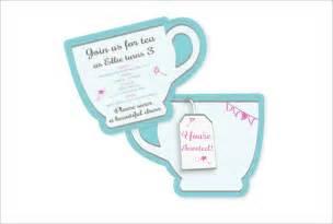 tea invitation template free printable wedding invitation sle