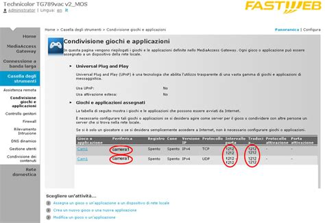 aprire porta fastweb port forward fastweb port forward technicolor foscam fastweb