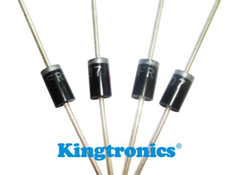 diode as a rectifier pdf kingtronics international company fast recovery diode fr101 fr107
