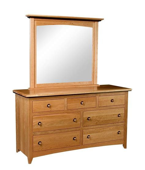 shaker style dresser with mirror classic shaker 7 drawer dresser with optional mirror