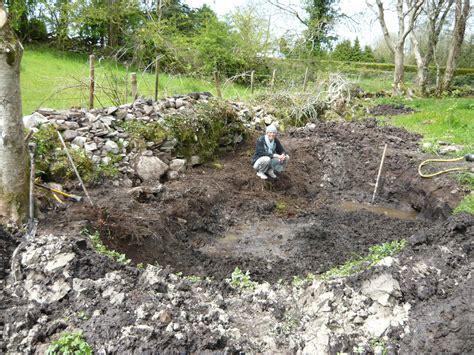 digging a backyard pond building a wild life pond thegreenerdream