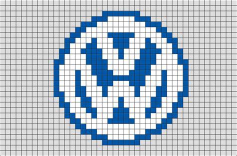 pixel art car volkswagen logo pixel art brik