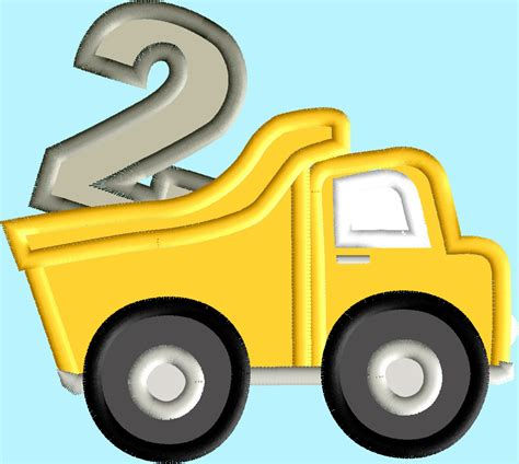 Dump Truck Applique Dump Truck by Dump Truck Birthday Applique Numbers 1 3 3 Designs
