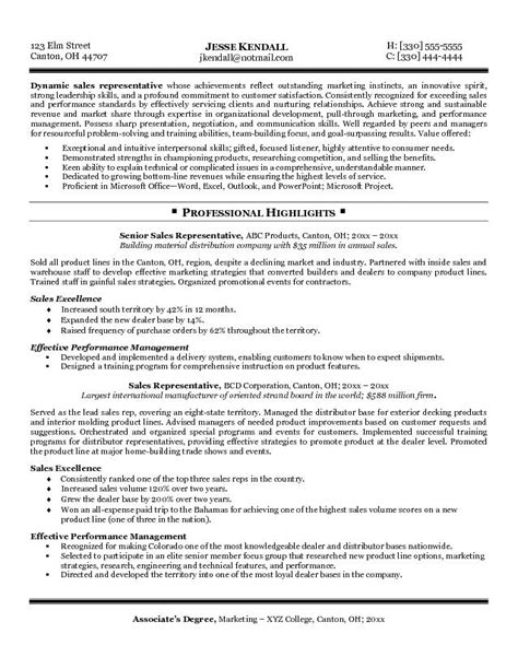 Exle Of A Sales Resume by Sales Representative Resume Sles Ilivearticles Info