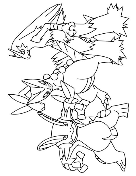 pokemon coloring pages grovyle pokemon advanced dibujos para colorear