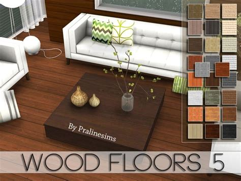 the sims 4 flooring set this set contains 5 wood floors found in tsr category
