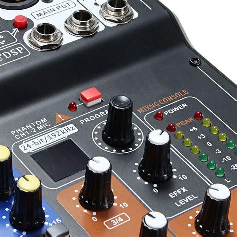 Mixer Audio 6 Channel 6 channel pro live studio audio sound usb mixer mixing
