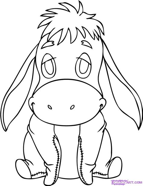 Drawing Of A by Easy Disney Characters To Draw Eeyore Drawing