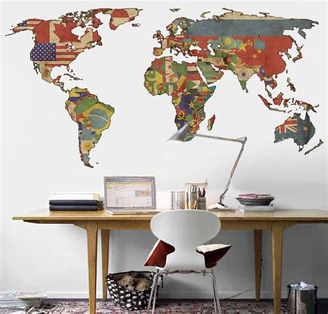 7 beautiful world map decor ideas for walls 5 world map decor ideas image 7