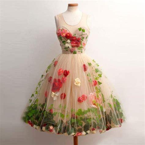 Handmade Flower Dresses - sleeveless chagne homecoming dresses