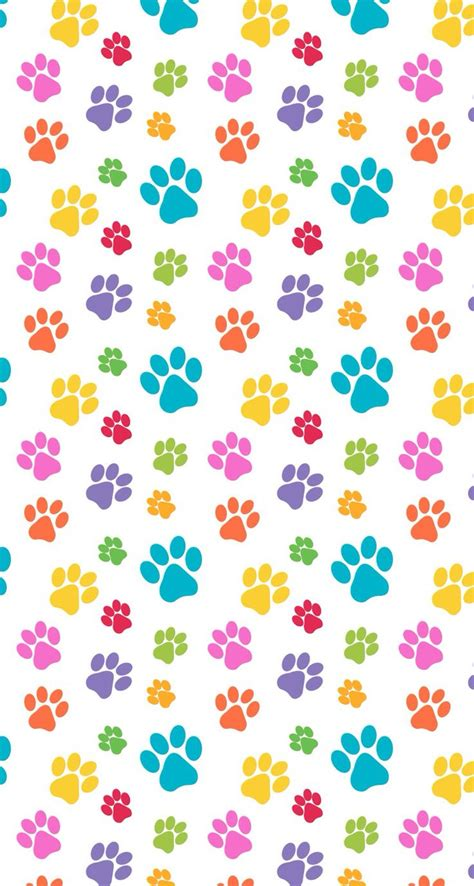 dog print wallpaper colorful paw prints iphone wallpaper color glitter