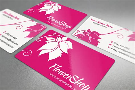 25 Free Pink Business Card Templates For Download Designyep Flower Business Card Template