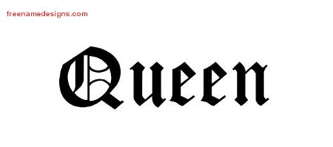 queen tattoo cursive queen archives free name designs
