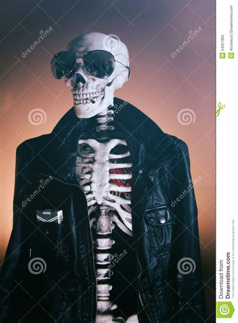 Wears Really Cool by Cool Skeleton Smooth Stock Photo Image Of Dead Biker