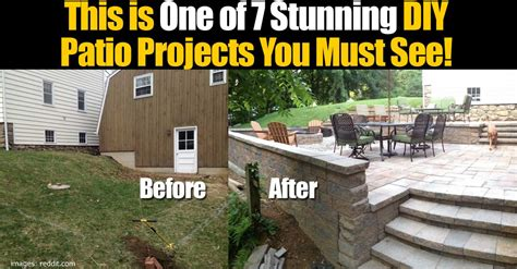 diy patio paver projects 7 stunning diy patio projects you must see
