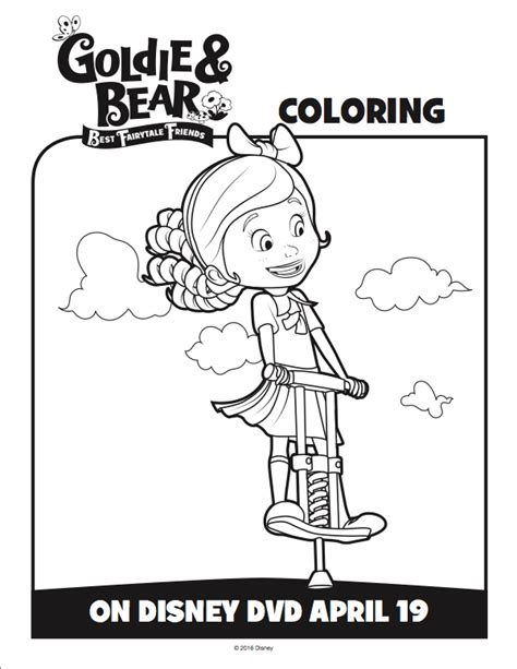 goldie bear coloring pages free goldie and bear coloring pages from disney junior